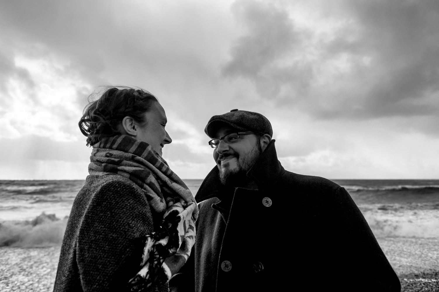 Sussex engagement shoot in Seven Sisters Country Park