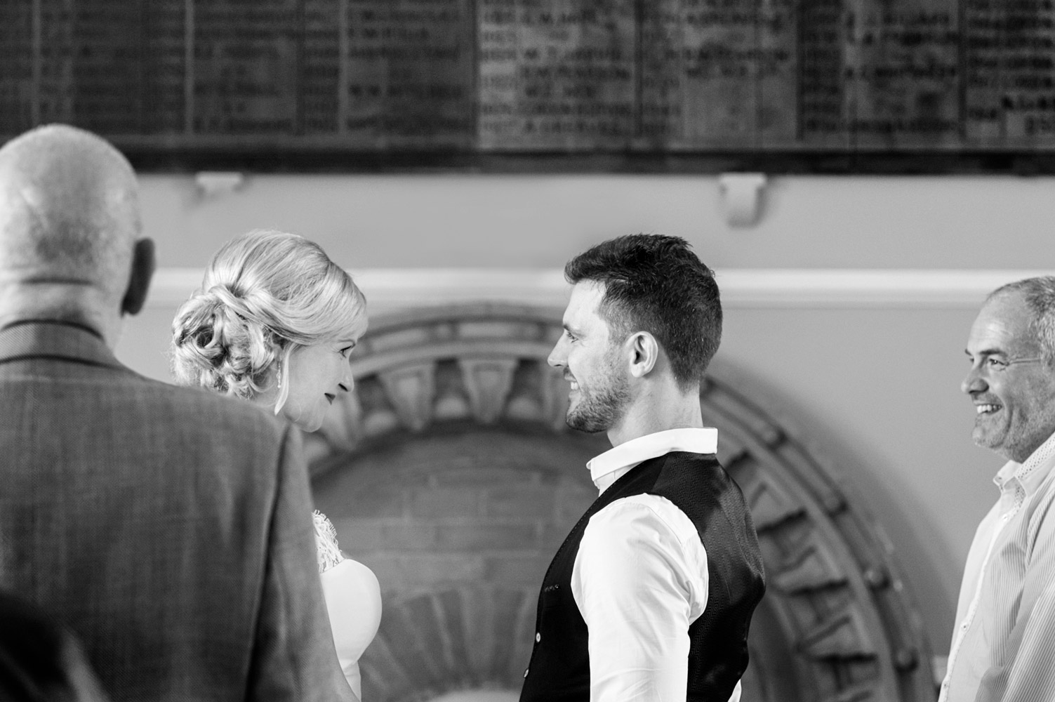 Wedding ceremony at Arundel Town Hall