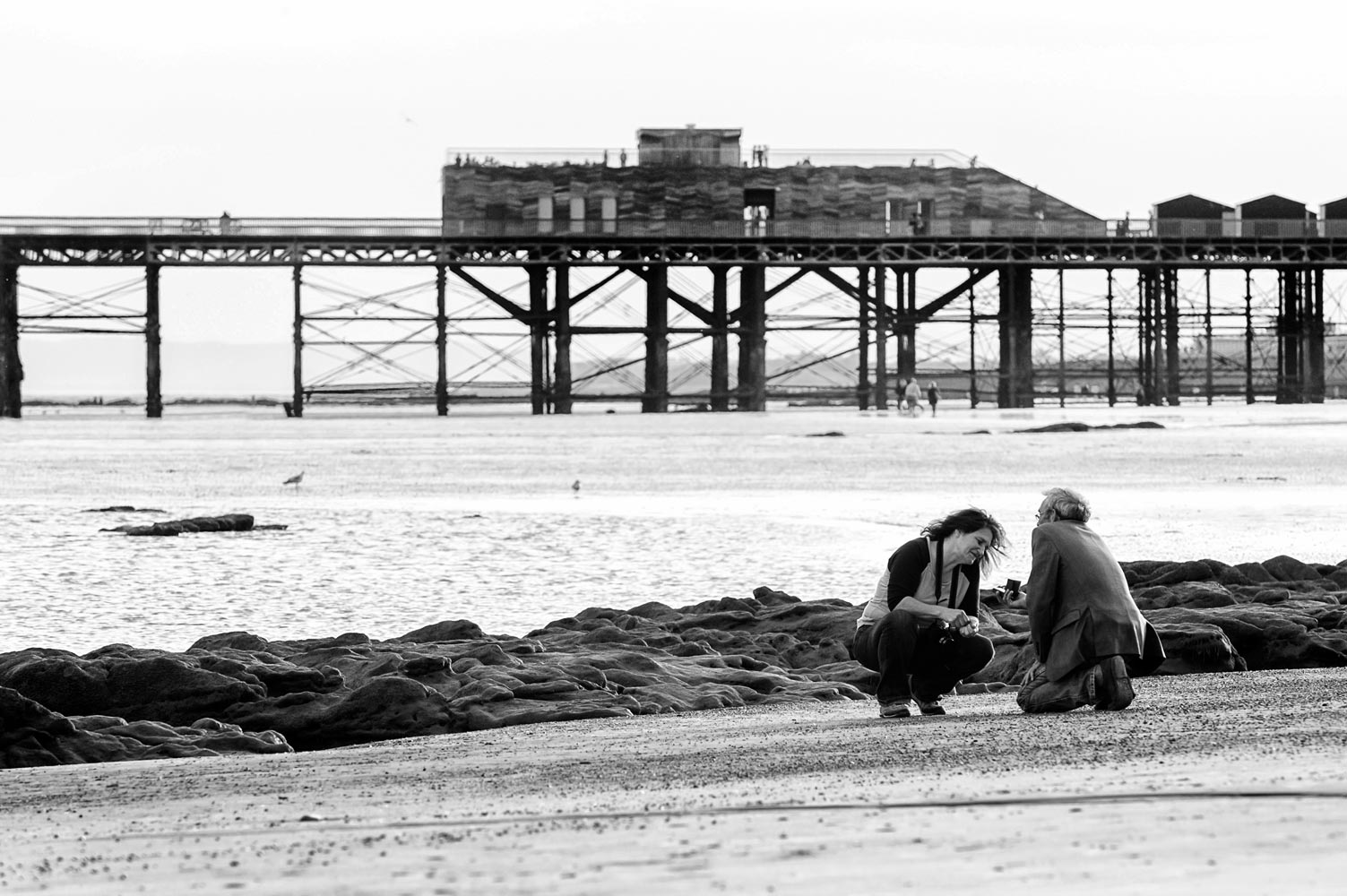 Marriage proposal on Hastings beach
