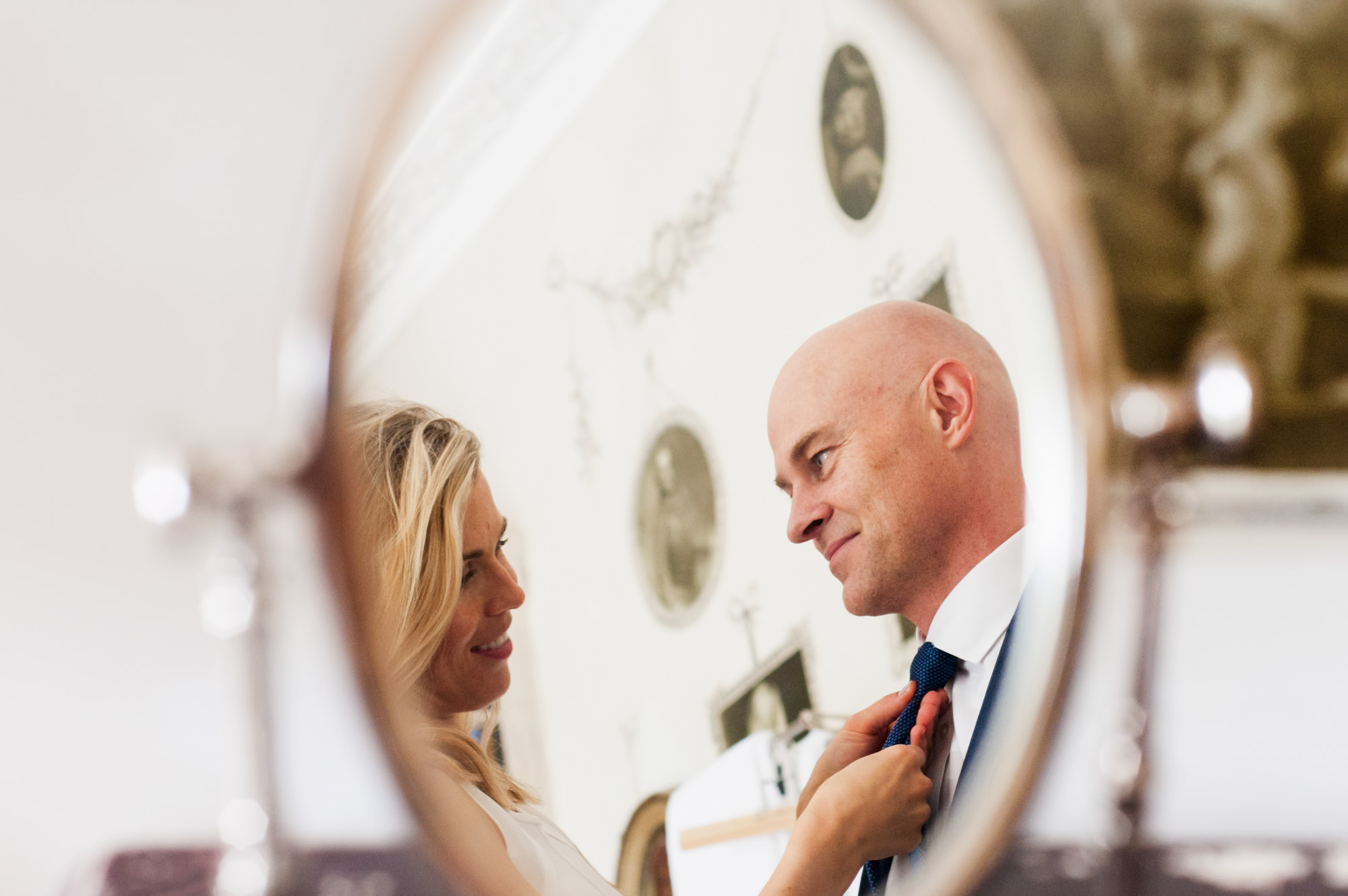 Couple gazing at each other by Sussex wedding photogrpaher James Robertshaw